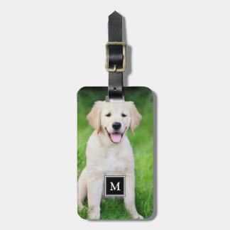 Create your own custom full photo monogram luggage tag