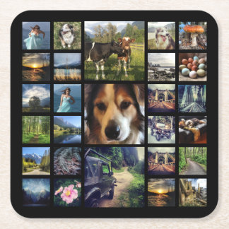 Create Your Own Custom Mega Instagram Photos Square Paper Coaster