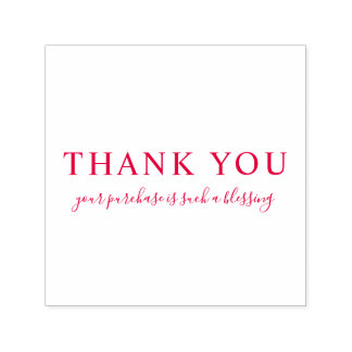 Create Your Own Custom Message Thank You Red Self-inking Stamp