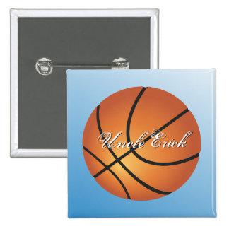 Create your Own Custom Monogram Basketball 15 Cm Square Badge