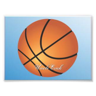 Create your Own Custom Monogram Basketball Photo Art