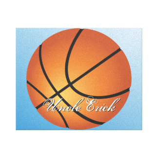 Create your Own Custom Monogram Basketball Stretched Canvas Print