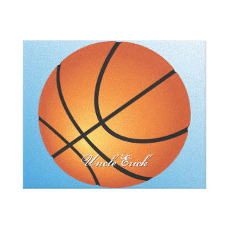 Create your Own Custom Monogram Basketball Stretched Canvas Prints