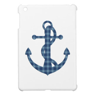 Create your own custom | Plaid tartan blue anchor Case For The iPad Mini