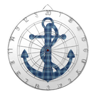 Create your own custom | Plaid tartan blue anchor Dartboard