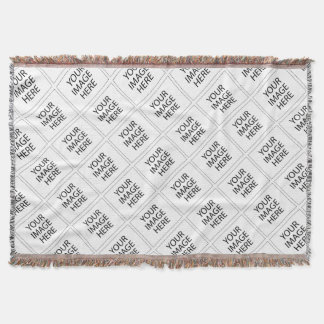 Create Your Own CUSTOM PRODUCT YOUR IMAGE HERE Throw Blanket