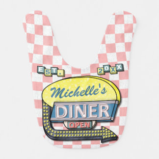 Create Your Own Custom Retro 50's Diner Sign Bib