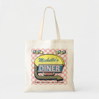 Create Your Own Custom Retro 50's Diner Sign Tote Bag