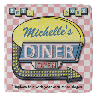 Create Your Own Custom Retro 50's Diner Sign Trivets