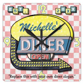 Create Your Own Custom Retro 50's Diner Sign Wallclocks