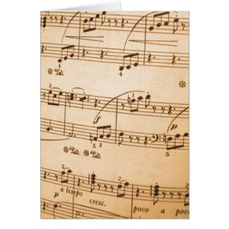 Create Your Own Custom Sheet Music Template Card