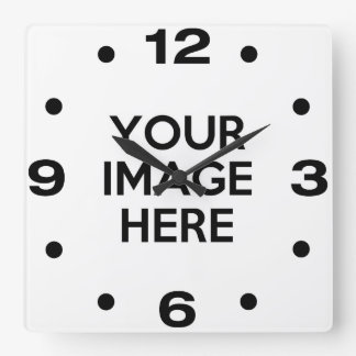 Create Your Own Custom Square Wall Clock