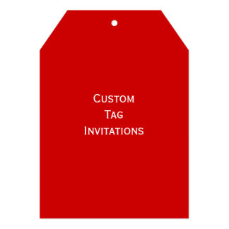 Create Your Own Custom Tag Invitations