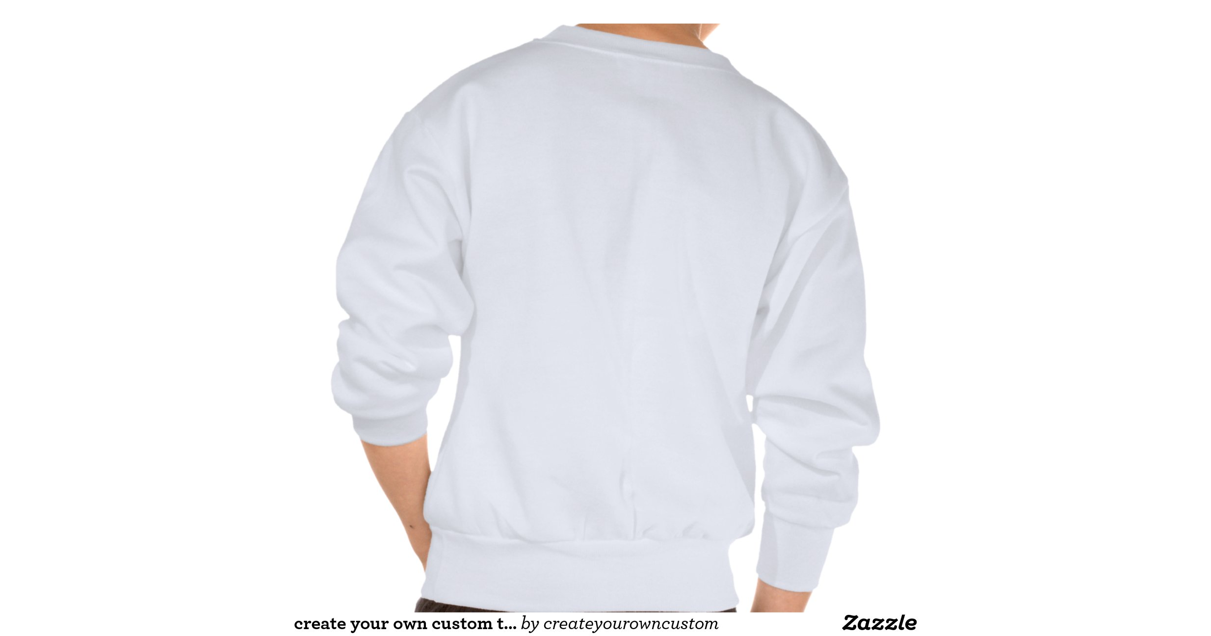 Create your own custom tie dye template pullover for Zazzle t shirt template