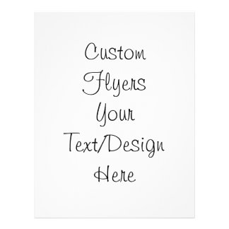 Create Your Own - Customize Blank Full Color Flyer