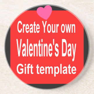 Create Your own customized Valentine's Day Present Beverage Coaster