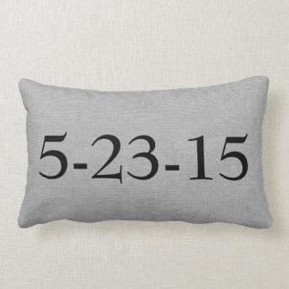 Create your own date wedding anniversary customize lumbar pillow