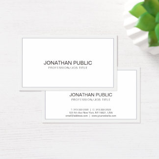 Create Your Own Design Professional Clean Plain Business Card