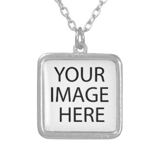 Create your own design & text silver plated necklace