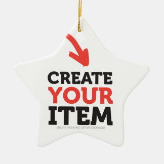 CREATE-YOUR-OWN DIY Custom Print (Color Options) Ceramic Star Decoration