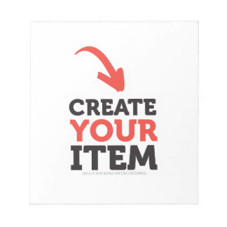 CREATE-YOUR-OWN DIY Custom Print (Color Options) Notepad