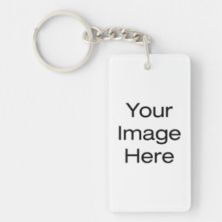 Create Your Own Double-Sided Rectangular Acrylic Key Ring
