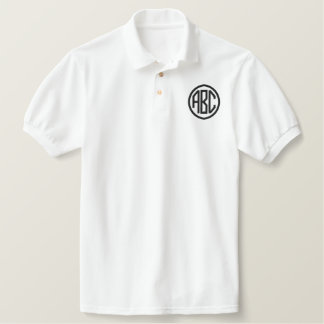 Create Your Own Embroidered Monogram Polo
