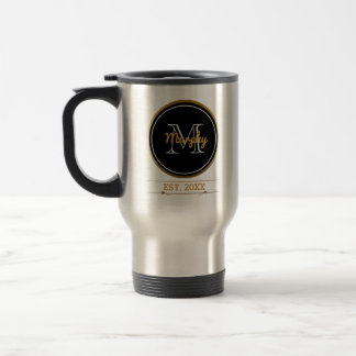 Create Your Own Family Monogram | Established Year Travel Mug