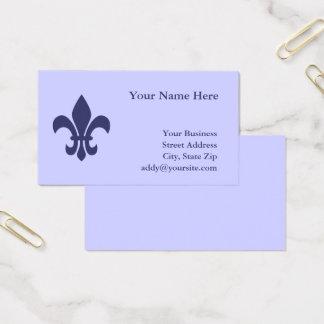 Create Your Own Fleur de Lis Business Card