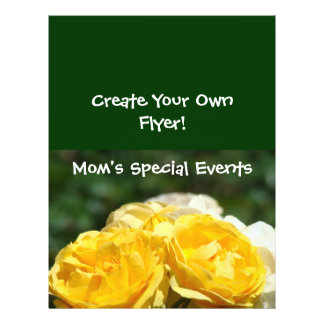 Create Your Own Flyers! Mom's Specila Events Green