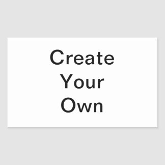 Create your own from scratch rectangular sticker