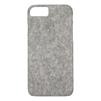 Create your own | Furry grey fabric iPhone 8/7 Case
