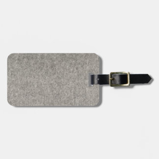 Create your own | Furry grey fabric Luggage Tag