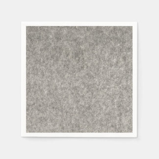Create your own | Furry grey fabric Paper Napkin