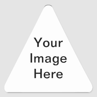 Create your own Geek template Triangle Sticker
