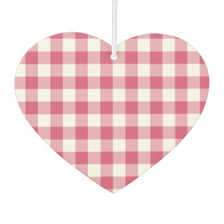 Create Your Own Gingham Car Air Freshener