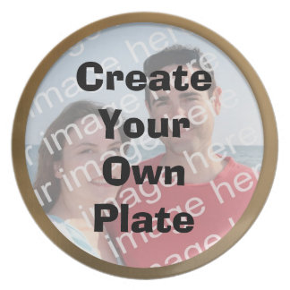 Create Your Own Gold Border Plate