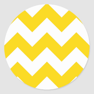 Create Your Own Gold Zigzag Pattern Classic Round Sticker