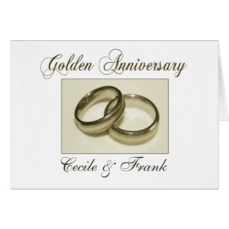 Create your own Golden Anniversary Card
