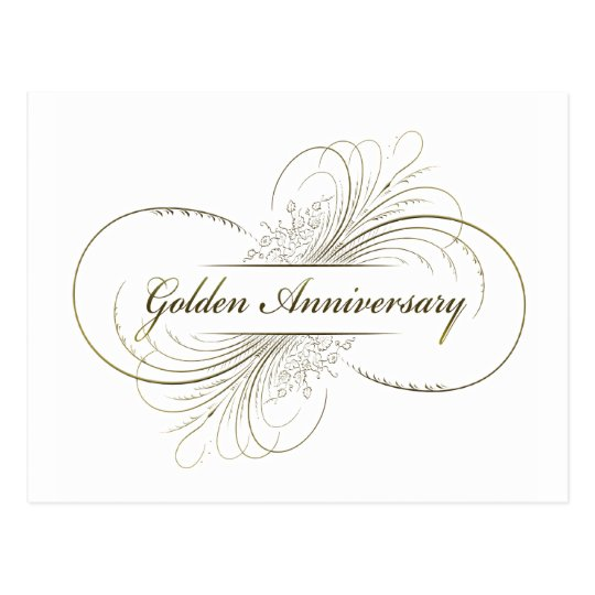 Create Your Own Golden Anniversary Design Postcard