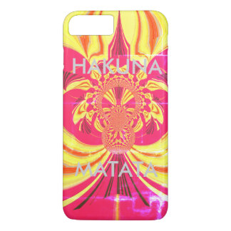 Create Your Own Hakuna Matata red yellow design iPhone 8 Plus/7 Plus Case