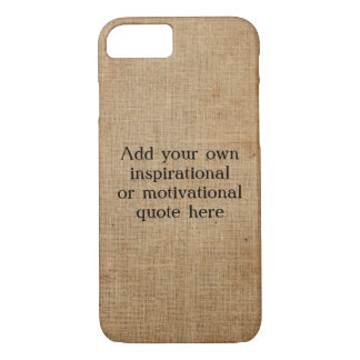 Create your own Inspirational/Motivational quote iPhone 8/7 Case