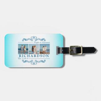 Create Your Own Instagram Beach Wedding Monogram Luggage Tag