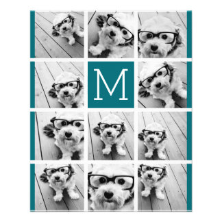 Create Your Own Instagram Collage Custom Monogram 11.5 Cm X 14 Cm Flyer