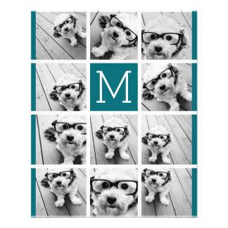 Create Your Own Instagram Collage Custom Monogram 11.5 Cm X 14 Cm Flyer