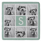 Create Your Own Instagram Collage Custom Monogram Trivet