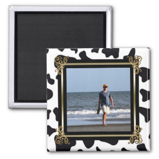 Create Your Own Instagram Photo | Animal Print B&W Magnet