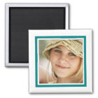 Create Your Own Instagram Photo Frame Simple Teal Magnet
