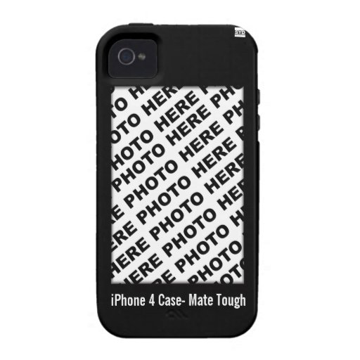 Create Your Own iPhone 4 Tough Case Black iPhone 4 Case