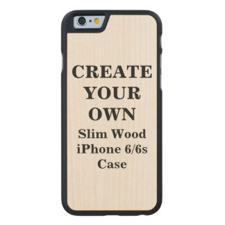 Create Your Own iPhone 6/6s Slim Wood Case